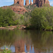 Red Rock Crossing In Sedona Art Print by Sandra Bronstein
