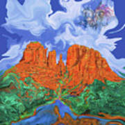 Red Rock Crossing Art Print
