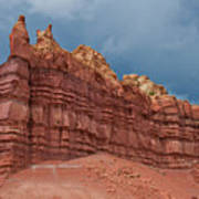 Red Rock Formation Art Print