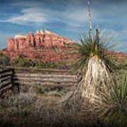 Red Rock Formation In Sedona Arizona Art Print