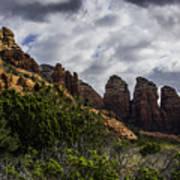 Red Rock Landscape From Sedona Arizona Art Print