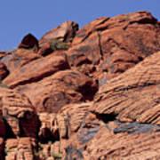 Red Rock Texture Art Print