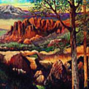 Red Rock Uplift Art Print