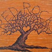 Red Rocks Love Tree Art Print
