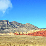 Red Rocks Nevada Panorama Art Print