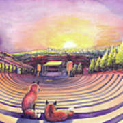 Red Rocks Sunrise Art Print