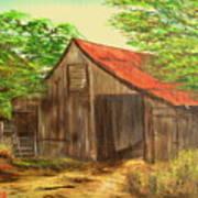 Red Roof Barn Art Print