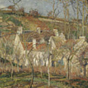 Red Roofs, Corner Of A Village, Winter Art Print