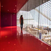 Red Room Views At The Seattle Central Library Art Print