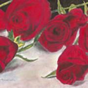 Red Rose Redux Art Print