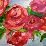 Red Roses, Red Roses Art Print