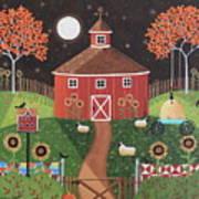Red Round Barn Art Print