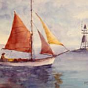 Red Sail... Art Print