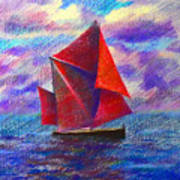 Red Sails Art Print
