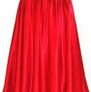 Red Satin Mid-calf Skirt. Ameynra Simple Line 2013 Art Print