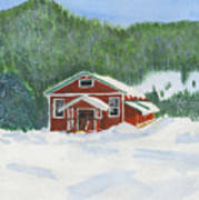Red School House Art Print