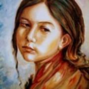 Red Shawl Art Print