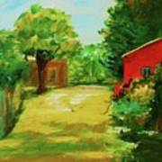 Red Shed Art Print by Julie Lueders