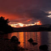 Red Skies Over Loch Rannoch Art Print