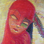 Red Skin Art Print