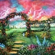 Red Sky Garden Art Print