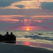 Red Sky Sun Rise Art Print