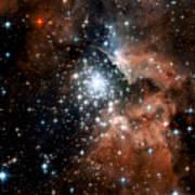 Red Smoke Star Cluster Art Print
