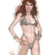 Red Sonja Pinup Art Print