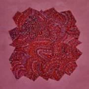 Red Spiral Art Print