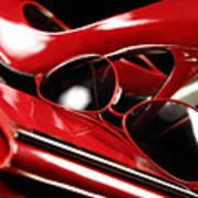 Red Stylish Accessories Art Print