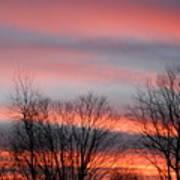 Red Sun Set Art Print