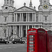 Red Telephone Boxes In London Art Print