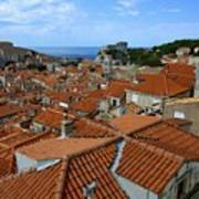 Red Tiled Roofs Of Dubrovnik Art Print