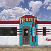 Red Top Diner On Route 66 Art Print