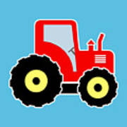 Red Toy Tractor Art Print