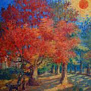 Red Tree Art Print