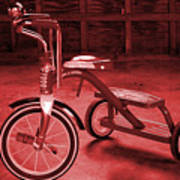 Red Trike Art Print