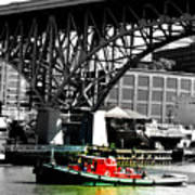 Red Tug On Cuyahoga River Art Print