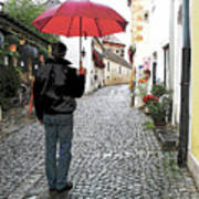 Red Umbrella Art Print