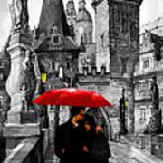Red Umbrella Art Print by Yuriy  Shevchuk