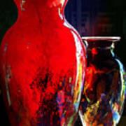 Red Vase Art Print
