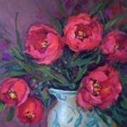 Red Velvet Tulips Art Print