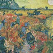 Red Vineyards At Arles Art Print