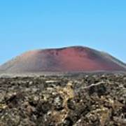 Red Volcano Art Print