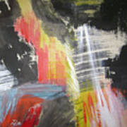 Red Waterfalls Art Print