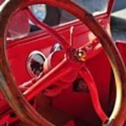 Red Wheel Art Print