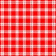 Red White Tartan Art Print
