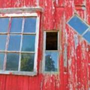 Red Wood And Windows Art Print