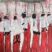 Red Woods Angels Black Like Me Art Print