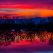 Reddening Sunset Art Print